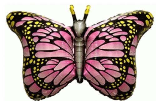 "Flexmetal 26"" Royal Butterfly Fuchsia Shape Unpackaged"